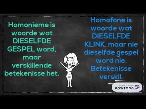 Homofone En Homonieme Youtube