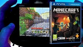 Minecraft Vita Hands-On Game-Play (PS4, Dual Shock 4, Trophies Details)