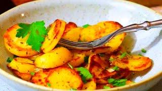 Geröstete, knusprige Kartoffeln im Ofen