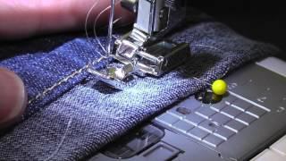 How to hem jeans and keep original hem.