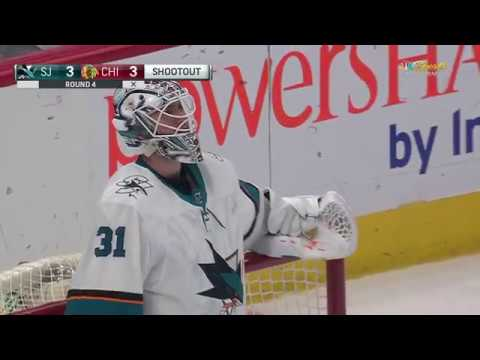 Sharks topple Blackhawks in SO