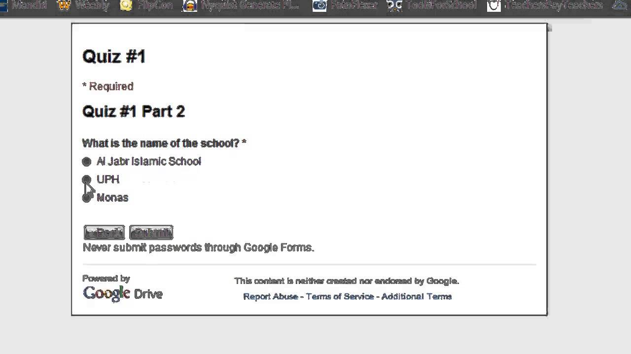 using google forms to make a multiple-choice quiz - youtube, Presentation templates