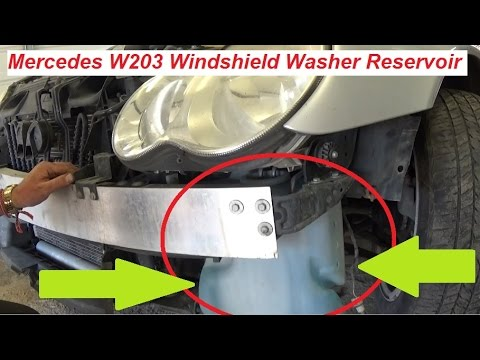 Mercedes w203 windshield washer reservoir tank replacement for Mercedes benz c300 windshield replacement