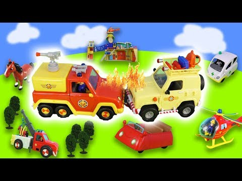 Fireman Sam: Fire in the fire station | cat is rescued | fire station, fire engines from YouTube · Duration:  8 minutes 1 seconds