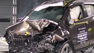 IIHS - 2013 Buick Encore moderate overlap crash test / GOOD EVALUATION /