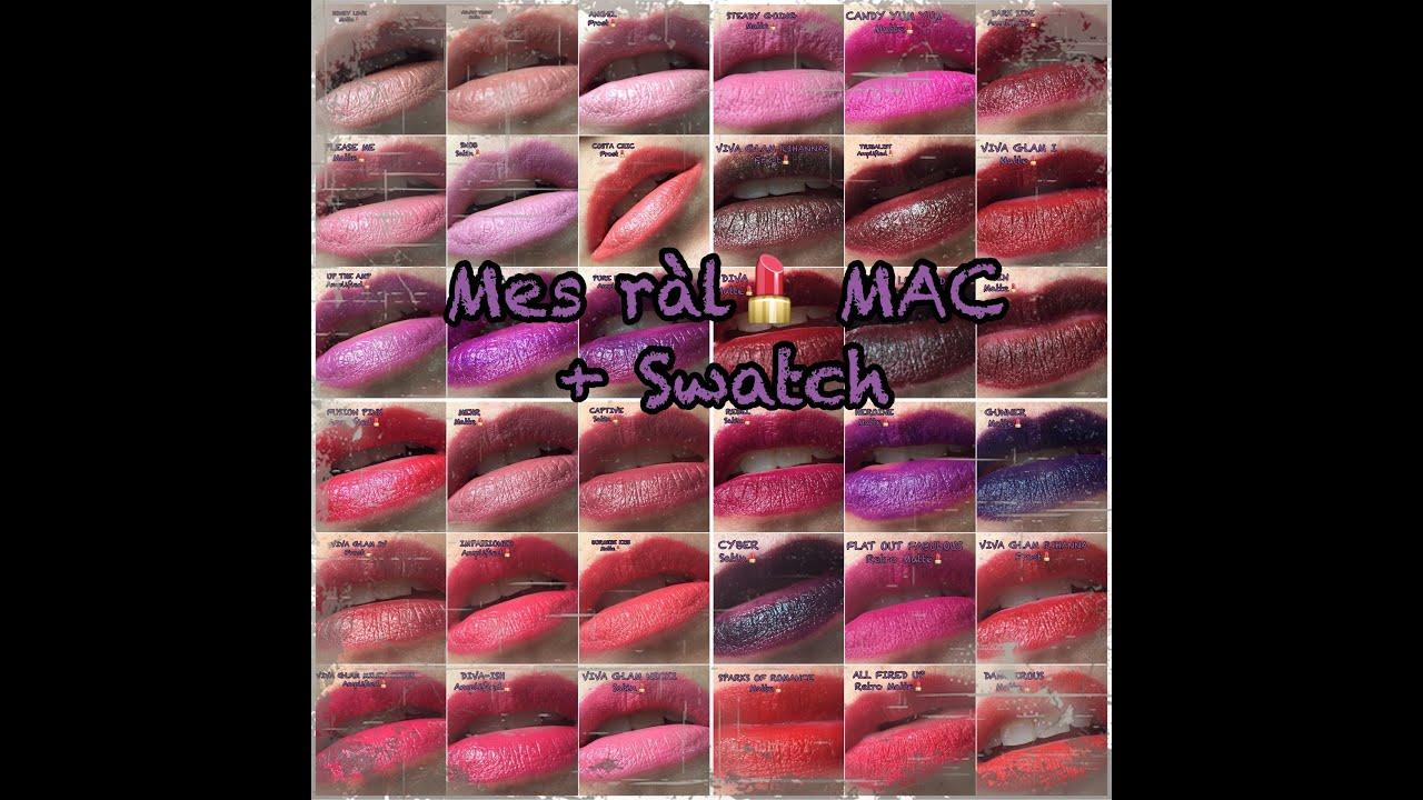 Extraordinaire Mes Rouges à Lèvres *MAC* + Swatch - YouTube CT-51