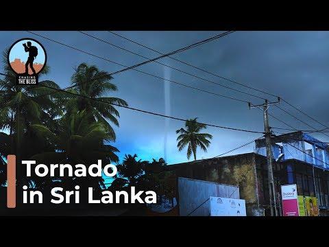Tornado in Sri Lanka - Stormy Weather Hits South Asia