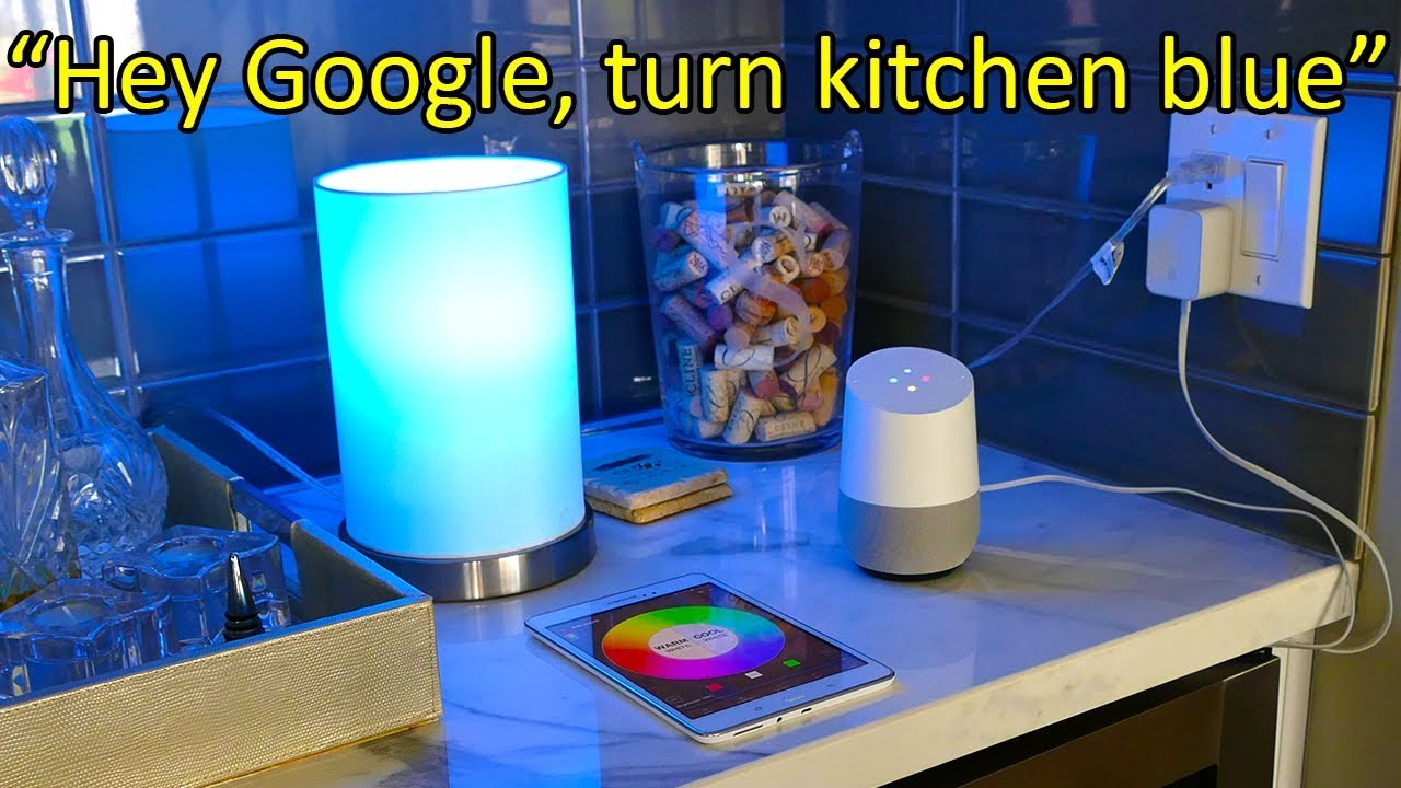 using google home to control your smart light bulbs youtube. Black Bedroom Furniture Sets. Home Design Ideas