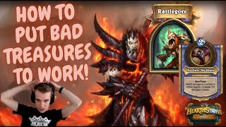 HOW TO PUT BAD TREASURES TO WORK! HEARTHSTONE DUELS.