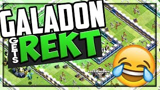 Galadon REKT - Clash of Clans MAX Town Hall 12 EASILY Tripled!
