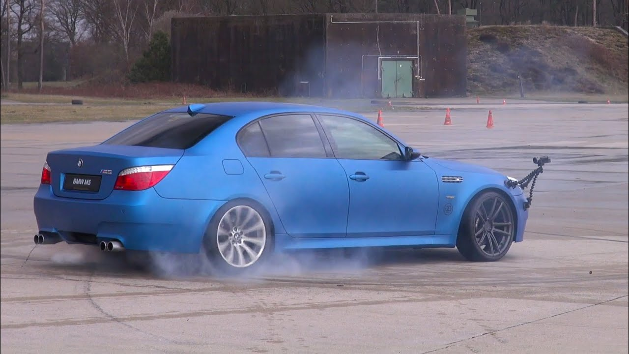 BEST of BMW M5 V10!! BURNOUT, DRIFTS, REVS!! - YouTube