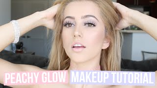 PEACHY GLOW MAKEUP TUTORIAL