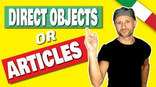 ITALIAN GRAMMAR: PRONOUNS - How to  tell ITALIAN DIRECT OBJECT PRONOUNS from ARTICLES