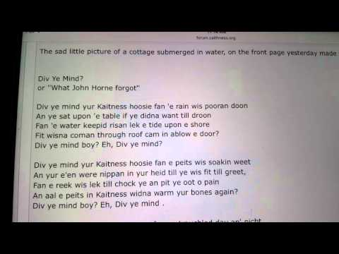 Caithness accent vs dialect