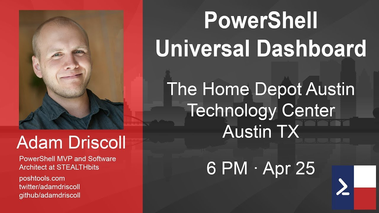 Powershell Universal Dashboard with Adam Driscoll - YouTube