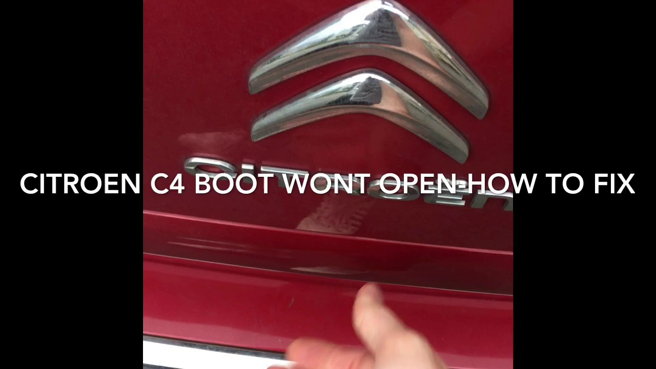 Citroen C4 Grand Picasso Boot Fix  Handle Not Working