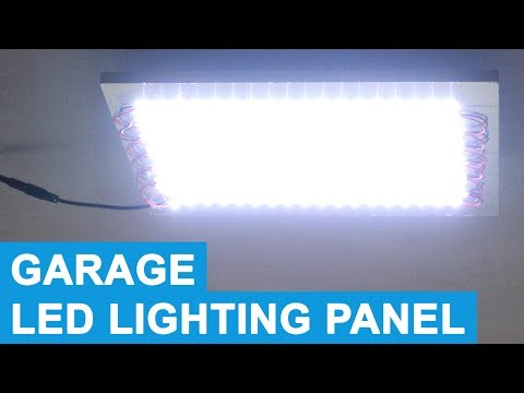 LED Light Panel - Battery Powered Garage Lighting