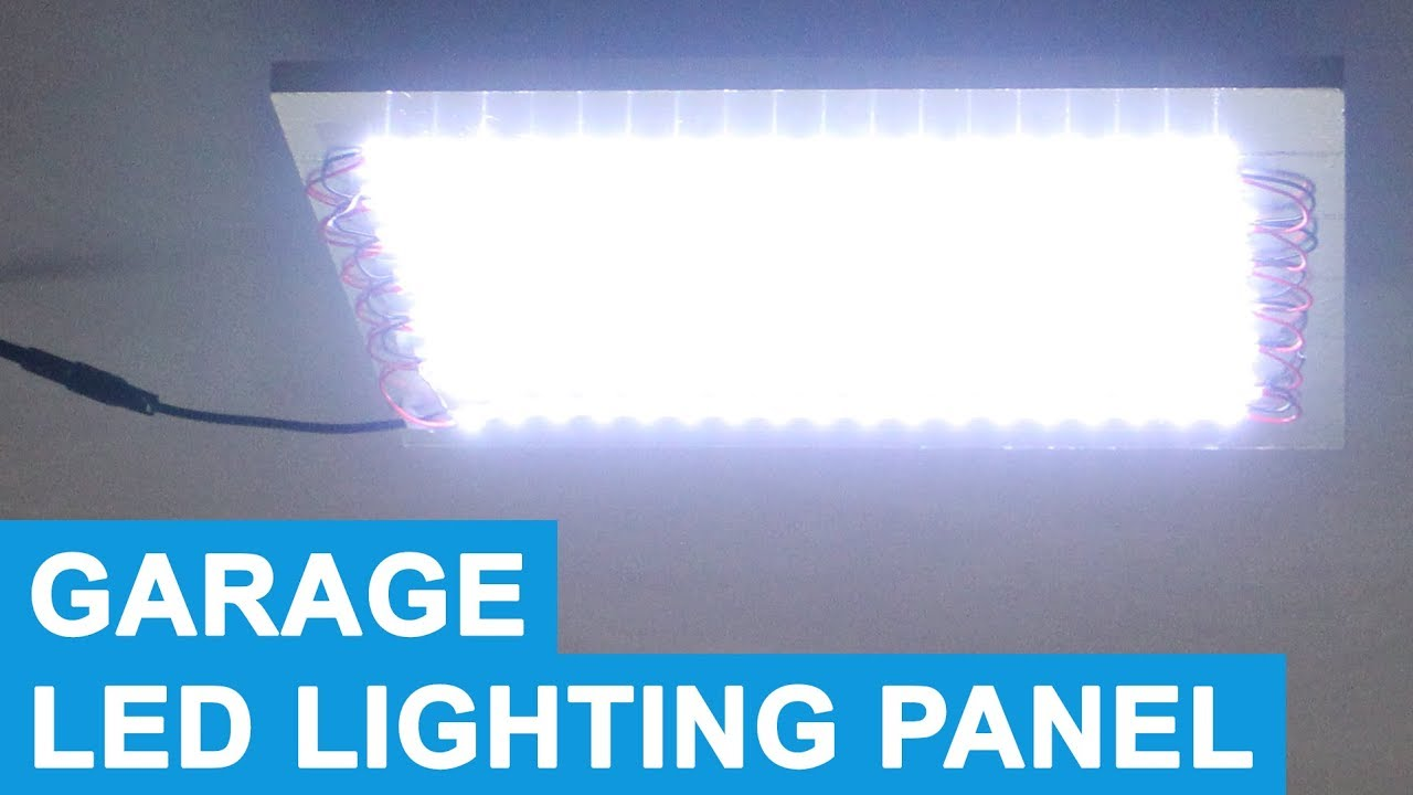 Led Light Panel Battery Ed Garage Lighting