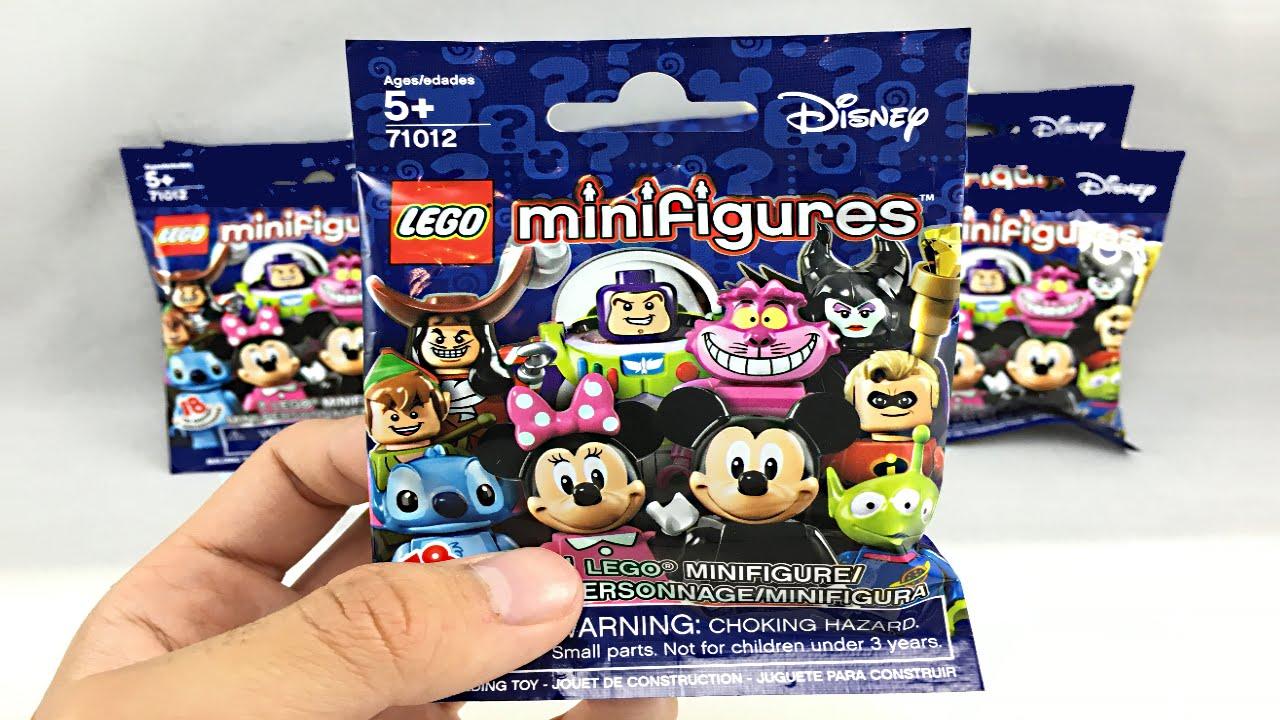 Lego Disney Minifigures 8 Pack Opening Youtube