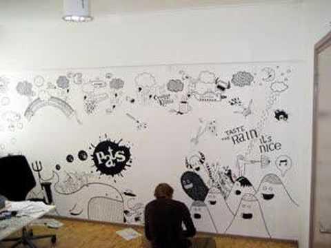 zeptonn wall drawing - youtube