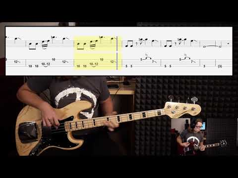 The Beatles Come Together Bass Cover With Tabs In Video Youtube