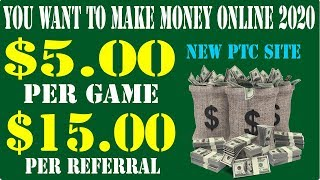 You Want To Make Money Online 2020 Forever | Earn $5 Per Game