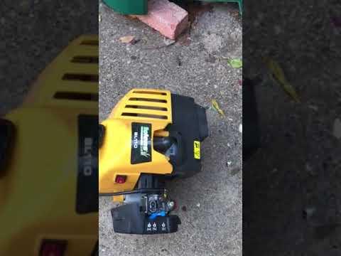 How to adjust Carburetor on Bolens BL 110 trimmer
