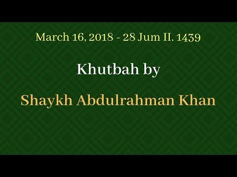 Khutbah 03/16/2018