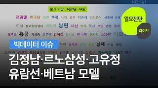[빅데이터 이슈] 김정남·르노삼성·고유정·유람선·베트남 모델 / KBS뉴스(News)