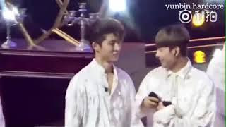 Hanbin likes to do HOT skinship with Yunhyeong