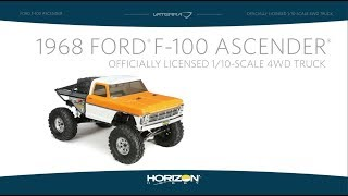 Load Video 1:  Vaterra 1/10 1968 Ford F-100 Ascender 4WD BND