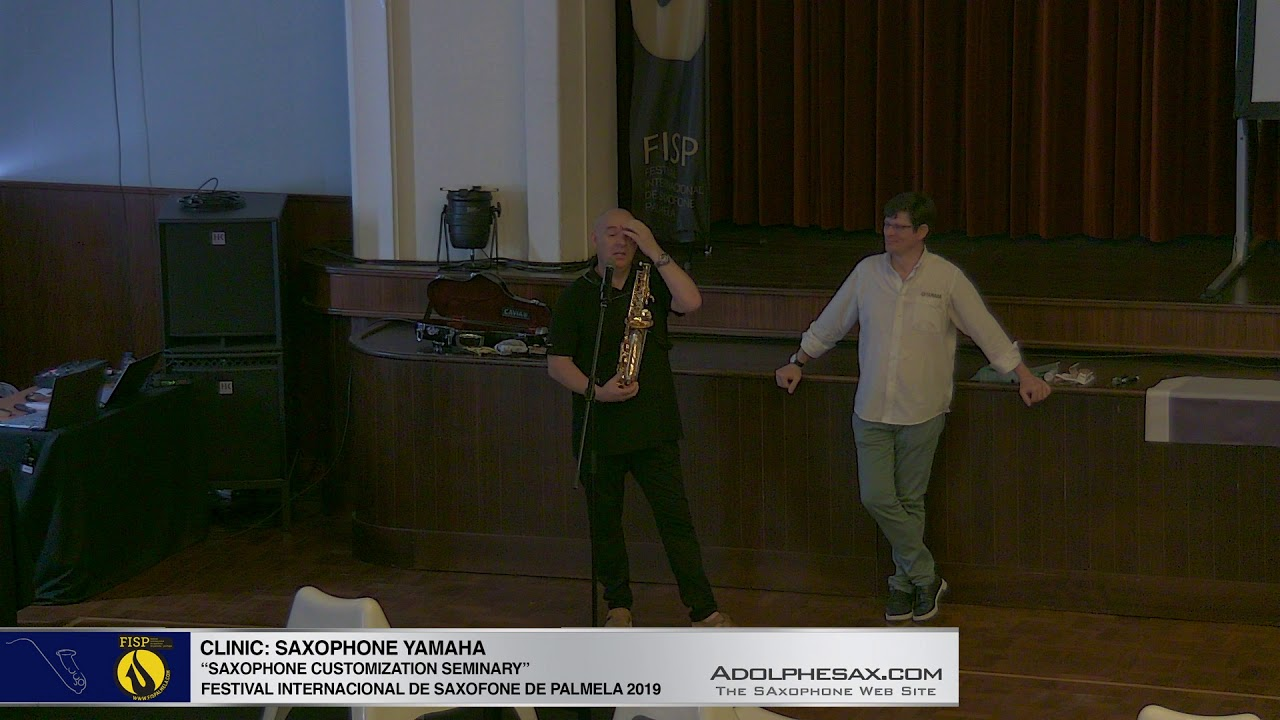 "FISPalmela 2019 - YAMAHA ""How to customize your sax by Albert Julia"