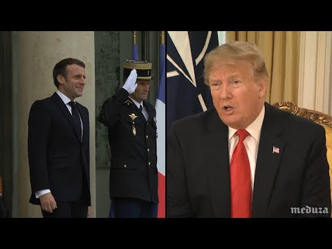 "Трамп ответил на заявление Макрона о ""смерти мозга НАТО"""