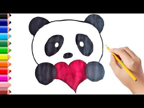 Kalpli Panda Nasil Cizilir Cok Kolay Cocuklar Icin Resim