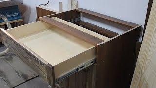 видео Стол тумба для кухни с ящиками