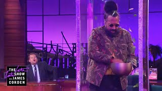 Reggie Watts Gets a Birthday Salad Machine