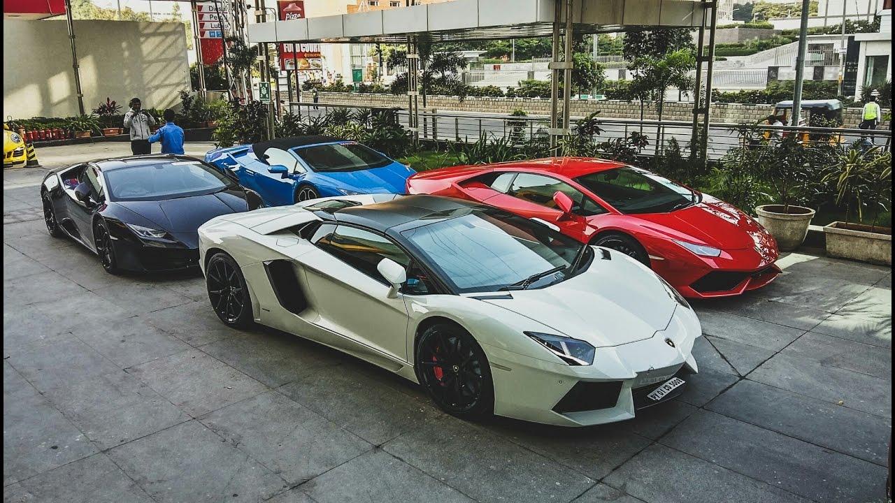 Supercars In India Hyderabad Lamborghini Sunday Drive Bull Run