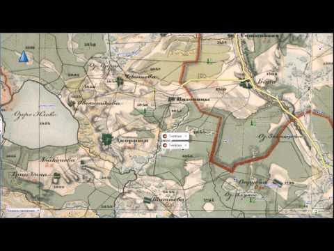 Старинная карта Тверской губернии 1850г для Garmin