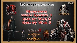 20 HORAS DE LIVE | MARATONA | NINJA GAINDEN 3 | GOD OF WAR 2 | GOD OF WAR 3
