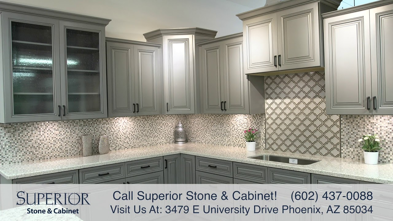 Kitchen Bathroom Cabinets Large Inventory In Phoenix Az Superior Stone Cabinet Youtube