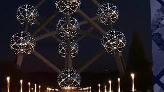 Welcome to Brussels, Belgium. Atomium architecture/restaurant