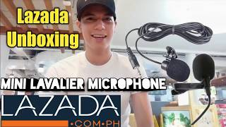 LAZADA UNBOXING and REVIEW of LAVALIER MICROPHONE FOR SMARTPHONE