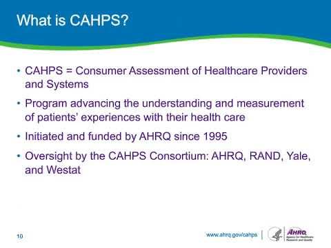 Understanding CAHPS Surveys: A Primer for New Users