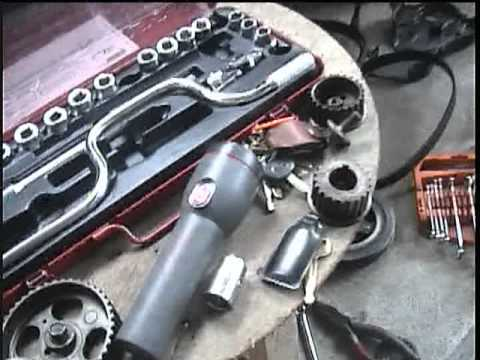 2E engine toyota replace oil seal and timing belt.mpg ...