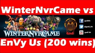 Clash Of Clans - Sick Win Over 200 Wins Clan EnVy Us - 20$ Free Gems Give Away!!