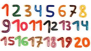 Цифры для детей. 1-20. Учим цифры.