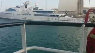 Pre Survey before assist Super Yacht MV.YAS on Mina Zayed