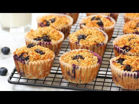 Blueberry Oatmeal Muffins | Quick + Easy + Make-Ahead Recipe | Bake With Me
