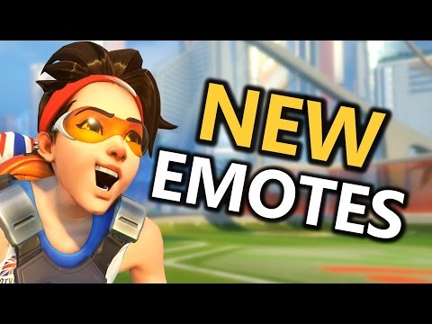 NEW! Laugh & Sit Emotes For ALL Heroes (Overwatch)