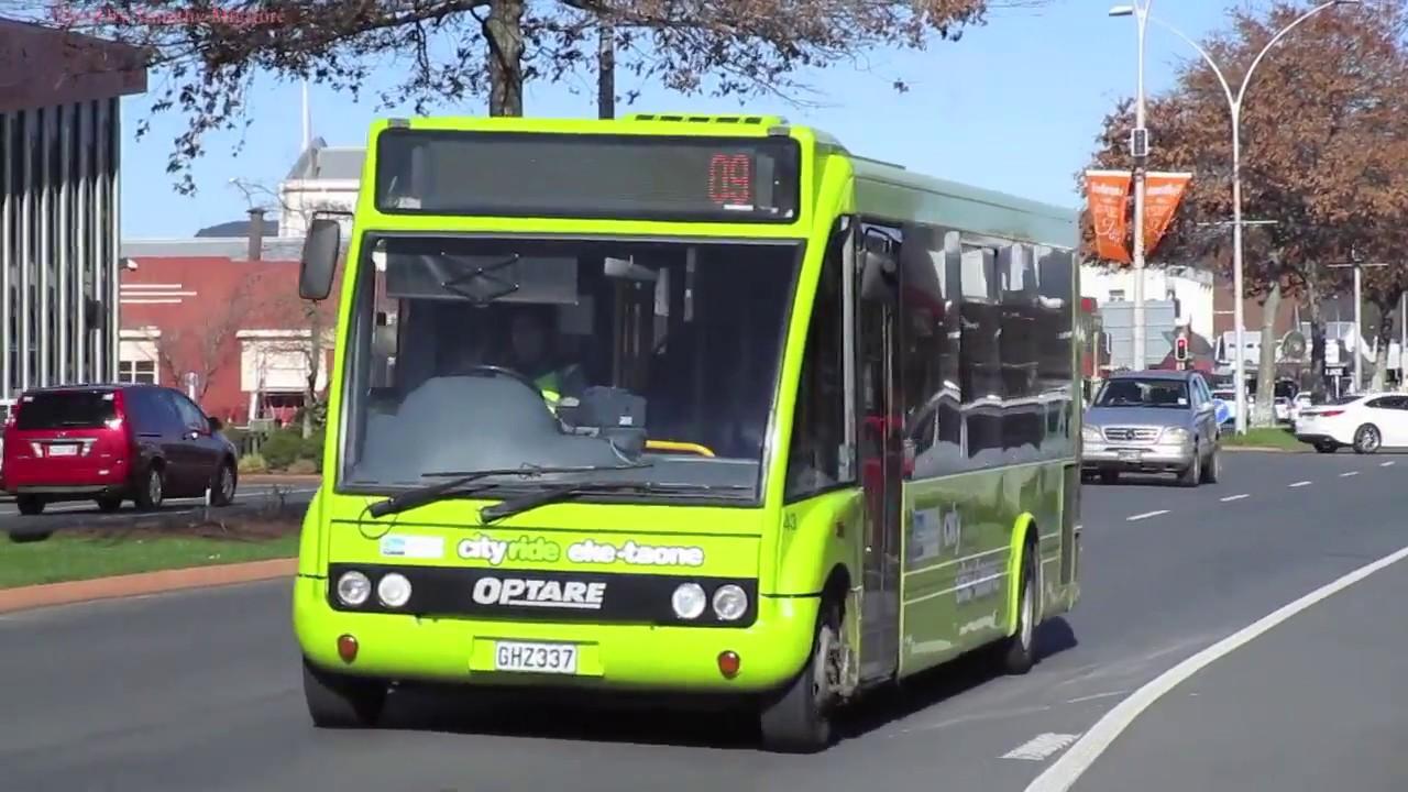 buses in rotorua  new zealand 2017 - the sulfur city